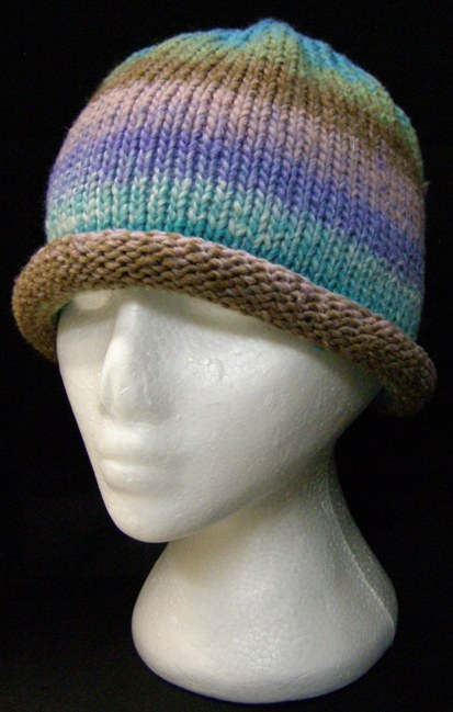 Chunky Hat With Roll Up Brim