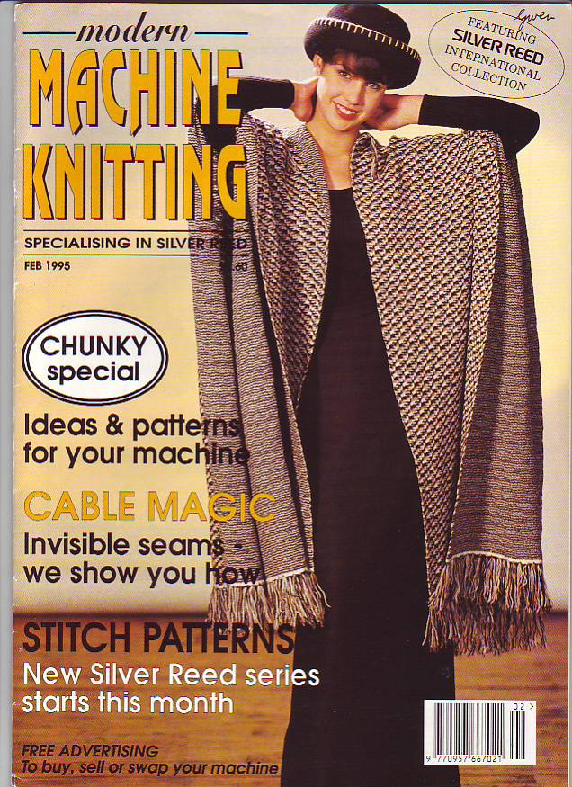 Machine Knitters Source Jan Feb 1999 Magazine Bulky Cables Patterns /& More